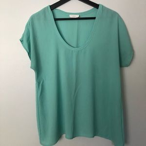 Lush sea-foam green top